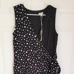 Spense Jumpsuit NWT Black White Polka Dot NWT 4 8
